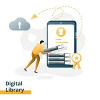 Landing page Digital Library