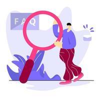ilustración preguntas frecuentes vector