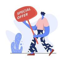 Flat Illustration of Special Offer