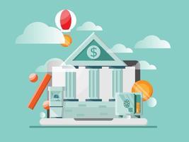 Ilustración de vector de concepto de banca en línea
