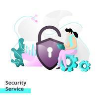 plantilla de página de destino del servicio de seguridad