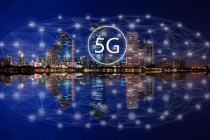 5g concepto tecnología de internet