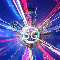 Concepto 5g de sistema de internet