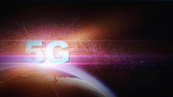 Fondo de tecnología avanzada 5g foto