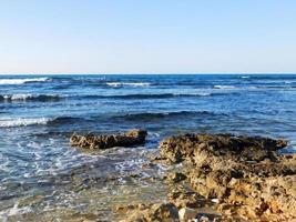 Waves on a seashore
