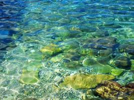 agua azul tropical foto