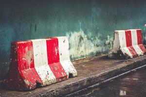 Red and white barriers