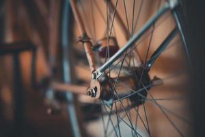 primer plano, de, un, rueda de bicicleta foto