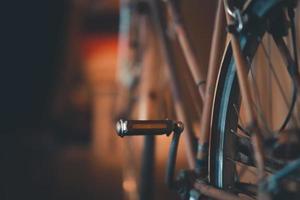 primer plano, de, un, bicicleta, pétalo