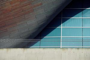 Londres, Reino Unido, 2020 - Edificio moderno del centro acuático foto
