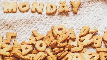 Monday cookies on a cloth