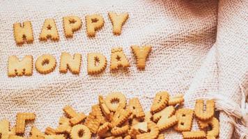 Happy Monday cookies