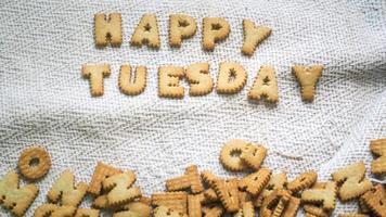 Happy Tuesday cookies