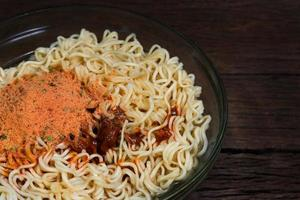 Bowl of ramen photo