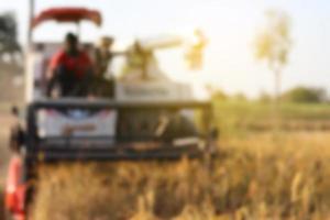 Blurry harvester background