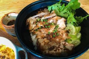 primer plano, de, un, tazón de arroz foto