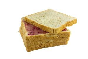 pila de pan con mermelada