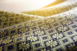 Silk cloth in sunlight photo
