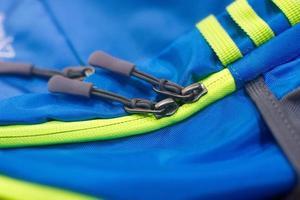 Blue and green shoulder bag