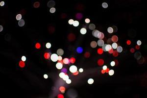 círculo luces bokeh