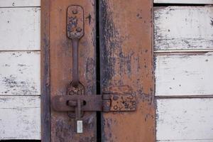 Close-up of a rustic door