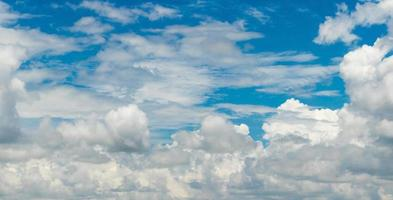 Blue sky background with cloud strom. photo
