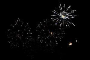 los fuegos artificiales iluminan la celebración del cielo