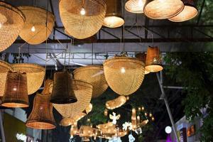 Wicker basket lights