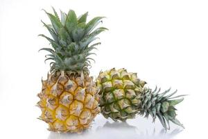 Two pineapple fruits photo