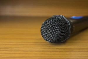 Microphone on a table photo