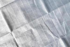 primer plano de tela blanca