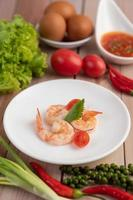 A simple plate of shrimp photo
