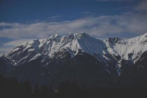 Landscape photography of mountain covered with snow photo
