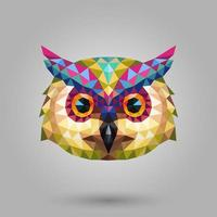 Owl face low polygon