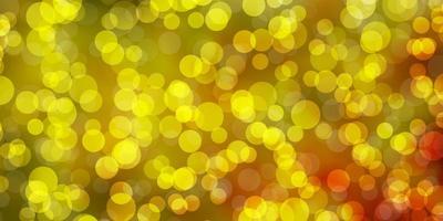 Light Orange vector backdrop with circles
