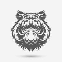 cepillo de arte de cabeza de tigre