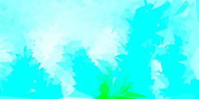 Light blue, green vector abstract triangle backdrop.
