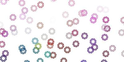Fondo de vector multicolor claro con burbujas.