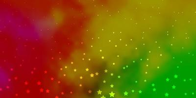 Dark Multicolor vector pattern with abstract stars.