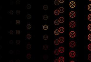 Dark Orange vector pattern with magic elements.