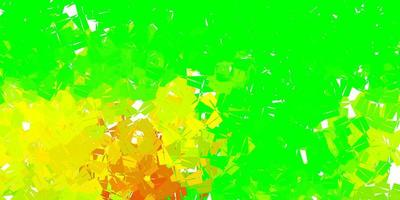 Fondo de pantalla de polígono degradado vectorial multicolor oscuro.