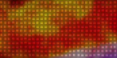 plantilla de vector multicolor claro con rectángulos.