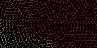 Dark Multicolor vector background with circles.
