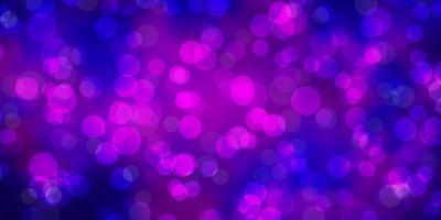 diseño vectorial de color rosa, violeta claro con formas circulares.