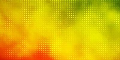 Light Green, Red vector background with spots.