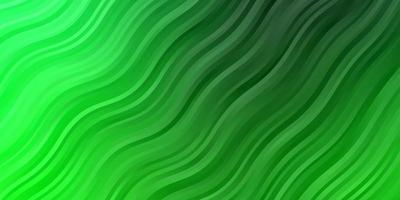 plantilla de vector verde oscuro con curvas.