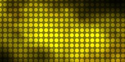 Dark Green, Yellow vector texture with circles.