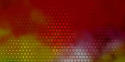 Light Multicolor vector background with bubbles.