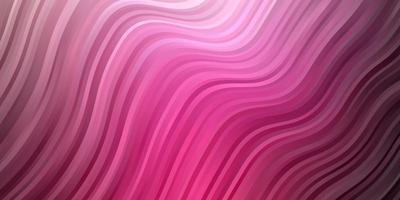 Fondo de vector rosa oscuro con líneas curvas.