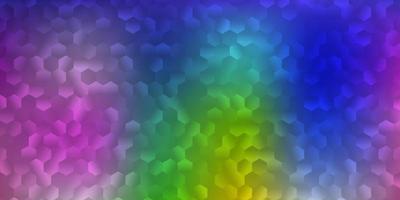 Telón de fondo de vector multicolor claro con formas caóticas.